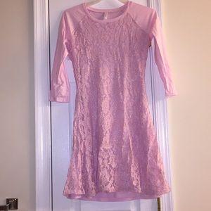 Pink dress size 14/16 junior